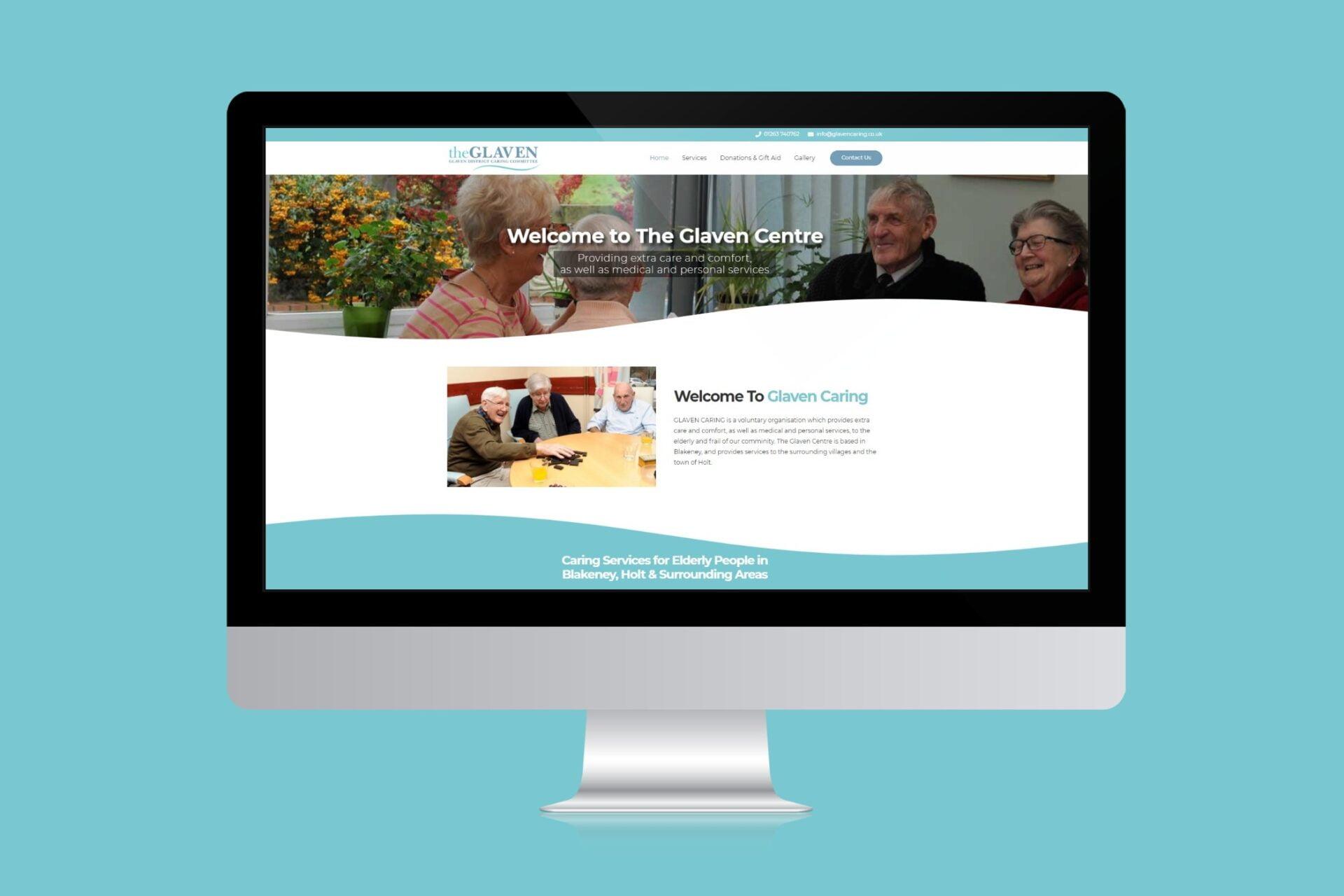 Glaven Caring steele media web design