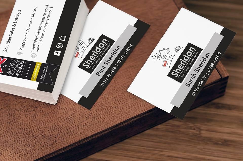 steele media sheridan business cards